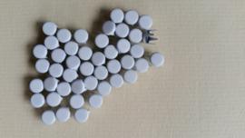 Nür 50  Zierknöpfe Weiss/White 006