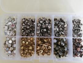 Sierknopjes assortimentsdoosje goud en zilverkleurig