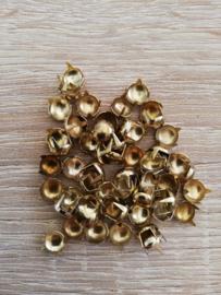 Sierknopjes goud rond