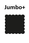 Jumbo +  Quadratisch geriffelt