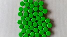 Nür 50 Zierknöpfe Neon Grün 028