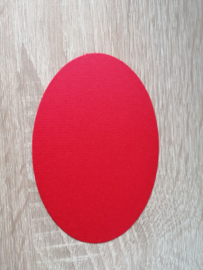 Ovale Ausschnitte 220 grms Rot