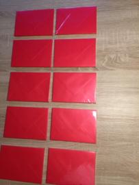 Umschläge C6 Perlzglanz Rot 10 stück