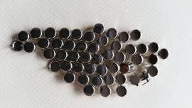Nür 50 Zierknöpfe Silber / Silver 004
