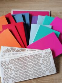 Grusskartenset  frische Farben 207