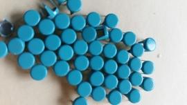 Alleen 50 sierknopjes Neon Blauw 031