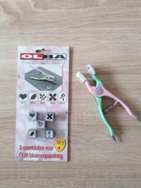 Olba Handpons inclusief 5 opzetstukjes