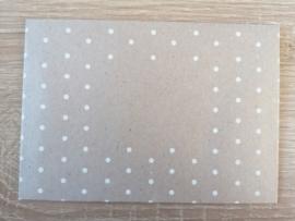 C6 Envelop Flutting Grey Dots
