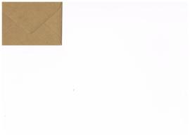 Mini envelop kraftpapier browny kraft
