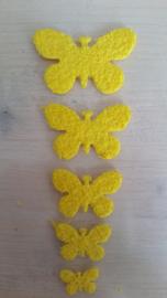 Schmetterlinge schaum 2 x 5 Gelbe