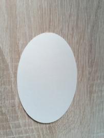 Ovale Ausschnitte 220 grms Perlglanz Crema