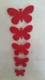 Schmetterlinge schaum 2 x 5  Rot