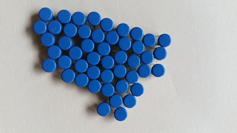 Nür 50 Zierknöpfe Blau/ Dark Bleu 003