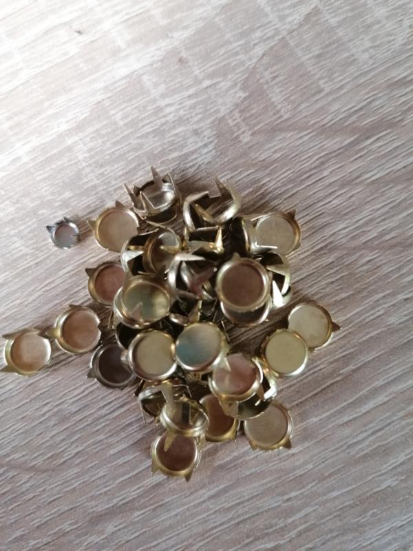 Decorative Knöpfe Gold große flach runde