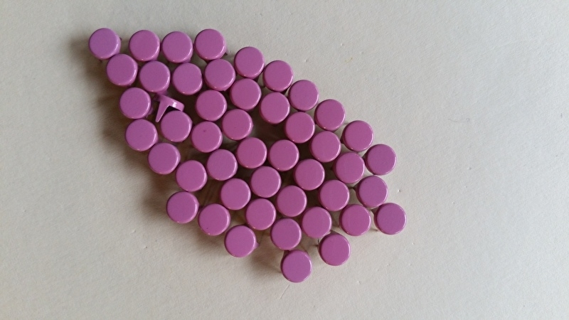 Alleen 50 sierknopjes Roze/Pink 010