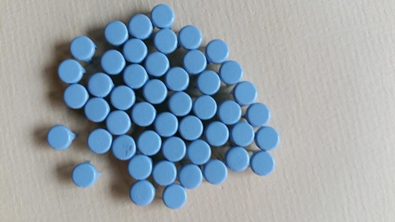 Nür 50  Zierknöpfe Hellblau/ Light Blue 011