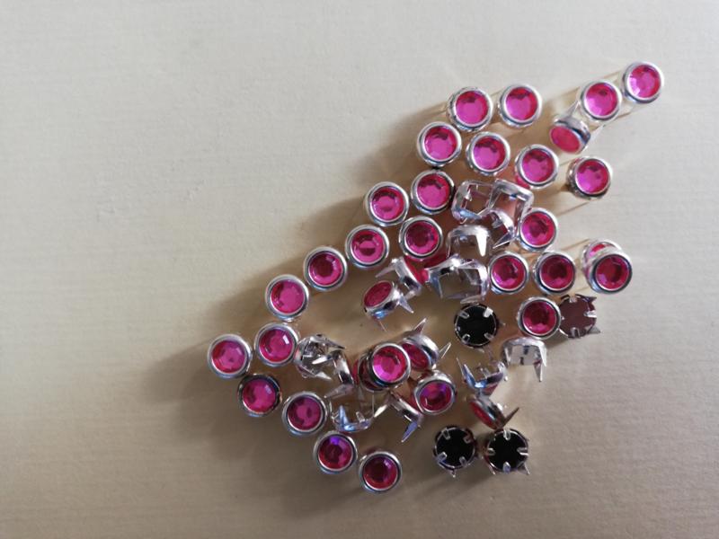 Strass steentjes mini roze