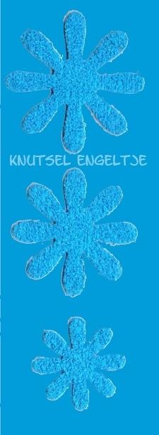 Blumen schaum 3 x 3 Hellblau