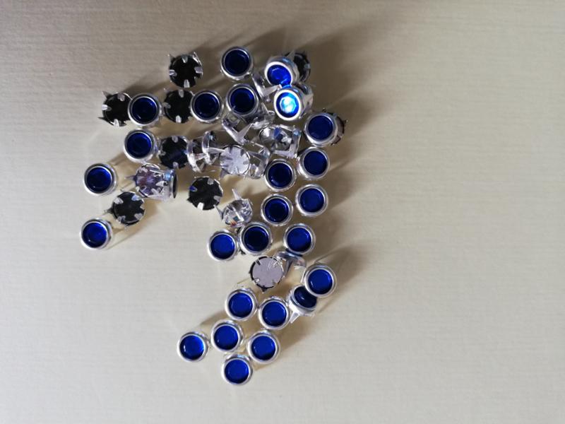 Strass steentjes mini blauw