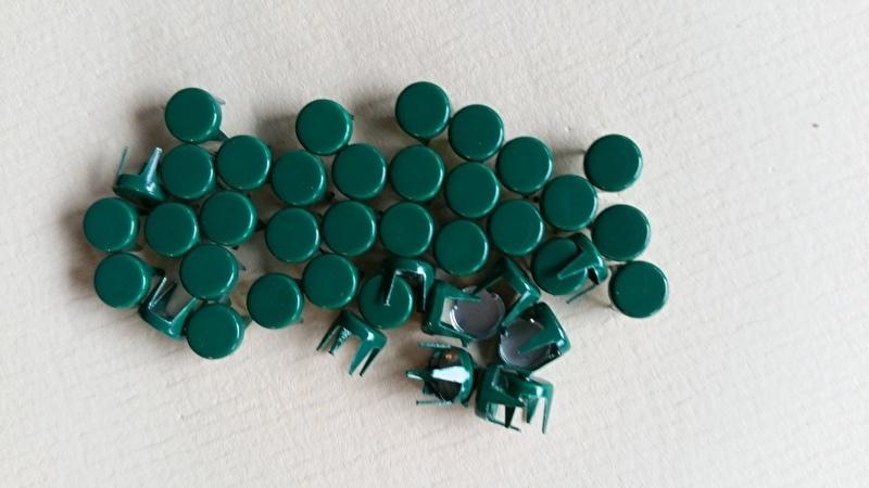 Nür 50 Zierknöpfe Dunkelgrün/ Darkgreen 007