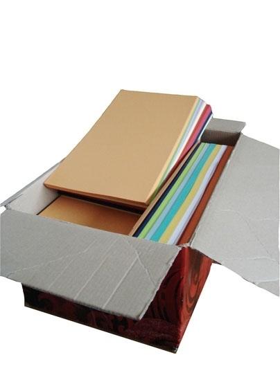 Papier 400 vel voor vierkante kaarten gemengde kleuren