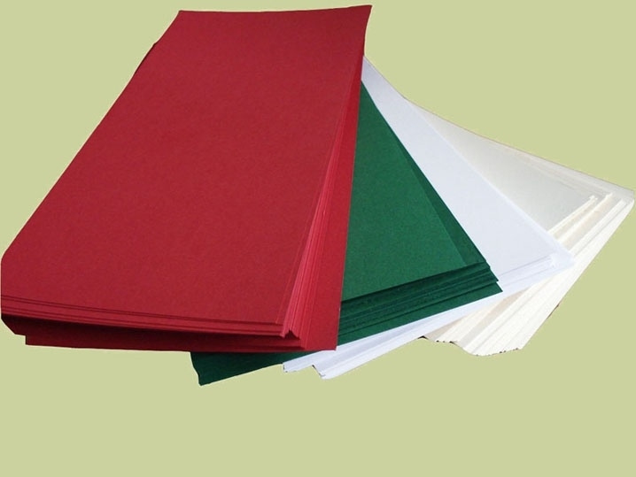Papier 400 vel voor vierkante kaarten Kerstkleuren
