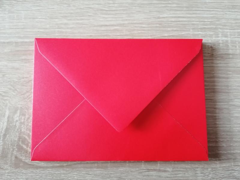 C6  Umschlag Perlglanz Rot