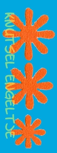 Blumen schaum 3 x 3 Orange