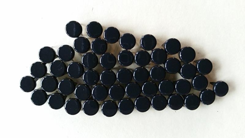Nür 50  Zierknöpfe Schwarz/ Black 008