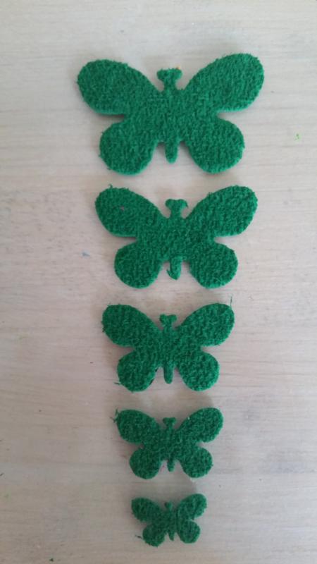 Schmetterlinge schaum 2 x 5 Dunkelgrün
