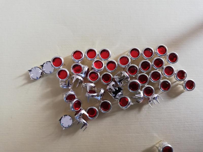 Strass steentjes mini rood