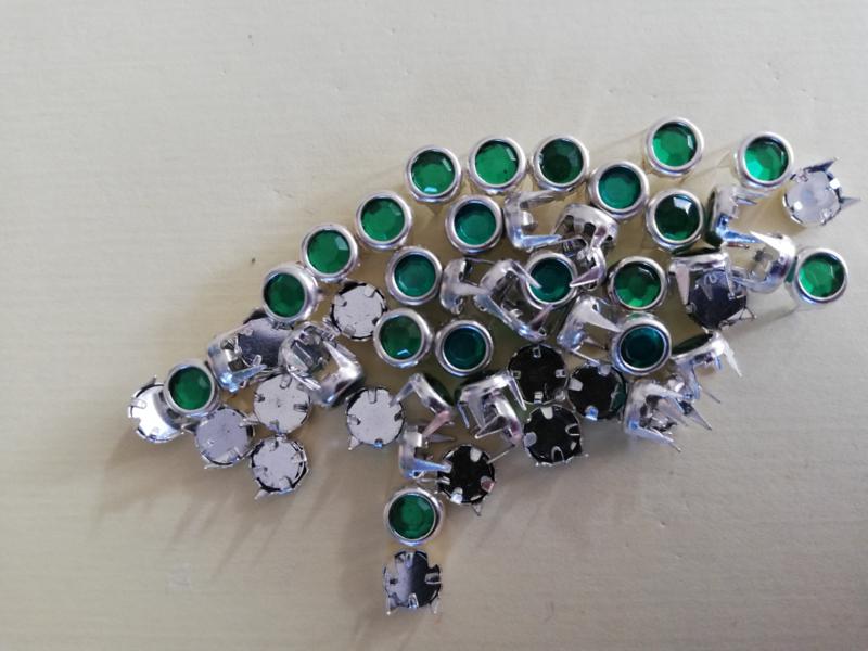 Strass steentjes mini groen