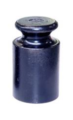 Knopgewicht 1 kg, staal gebruneerd, M1