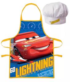 Cars (Disney) Lightning McQueen keukenschort + koks muts