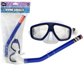 Duikbril met snorkel blauw