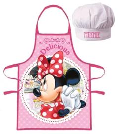 Minnie Mouse (Disney) keukenschort + koks muts