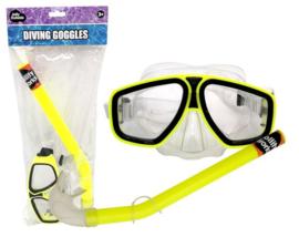 Duikbril met snorkel geel