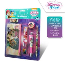 Shimmer & Shine 6-delige schrijfwaren set