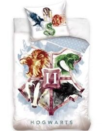 "Harry Potter dekbedovertrek ""Huffelpuf, Gryffindor, Slytherin en Ravenclaw"""