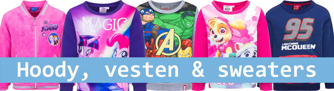 disney, marvel, vesten, hoody, hoodie, vesten, truien, sweaters, frozen, paw patrol, spiderman, batman, cars, avengers