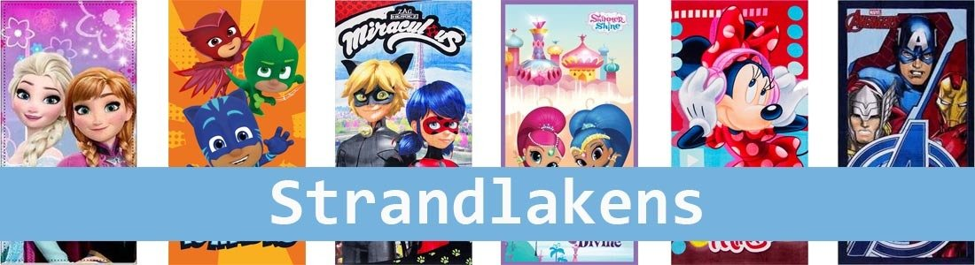 strandlaken, badhanddoek, 70x140 cm, disney, marvel, nickelodeon, paw patrol, cars, avengers, minions, minnie, mickey mouse, my little pony, thomas trein