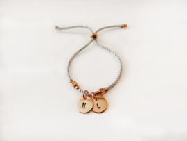 Dubbele initial bracelet