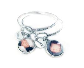 Birth Photo bracelet 2 stuks