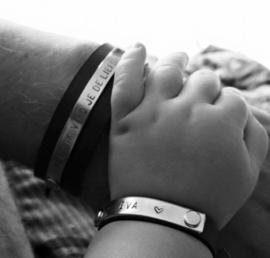 Papa armband + Kinderarmbandje