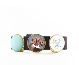 Armband incl. 1 foto + 1 tekst + 1 color-slider