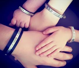Papa armband + Mommy Bracelet + 2x Kinderarmbandje