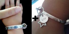 Birth Bracelet + 1x Kinderarmbandje