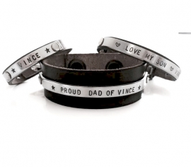 papa armband + Mommy Bracelet + 3x Kinderarmbandje