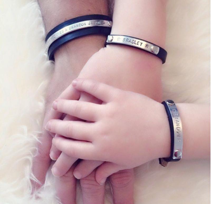 Papa armband + Mommy Bracelet + 1x Kinderarmbandje