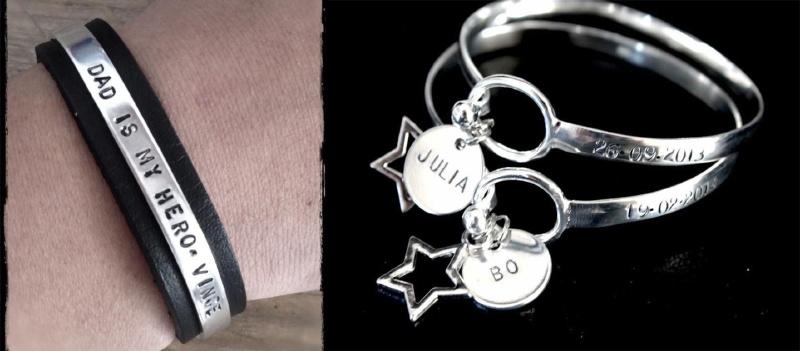 Set Papa armband + 2x Birth Bracelet